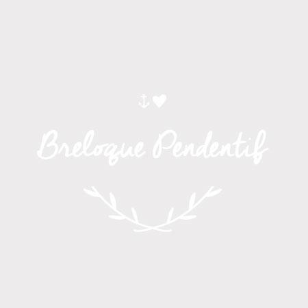 Breloque Panneau coeur Bronze vieilli x 6