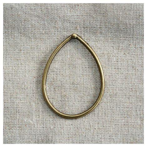 Breloque Grand anneau goutte Bronze vieilli x 1