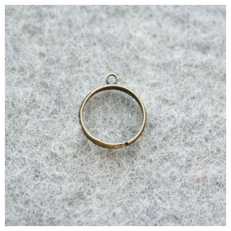 Bague 18mm 1 anneau Bronze vieilli