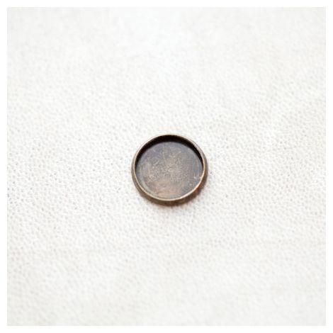 Base de cabochon Rond 12mm Bronze vieilli