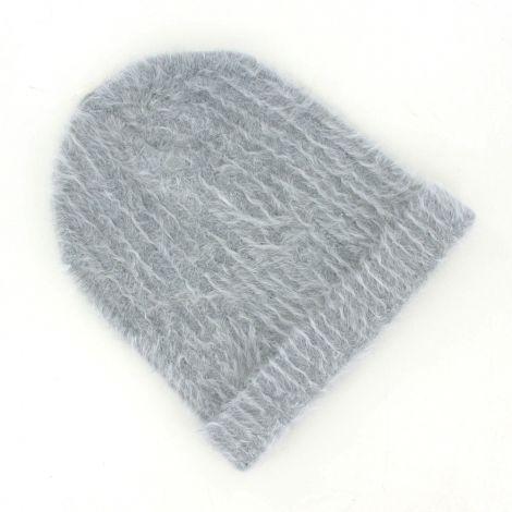 Bonnet femme angora gris