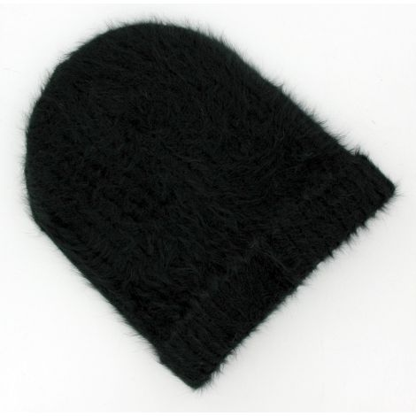Bonnet femme angora noir