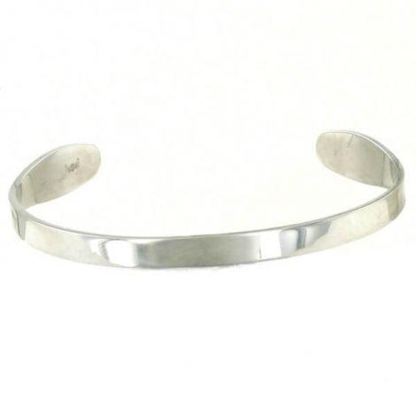 Bracelet rigide acier argenté