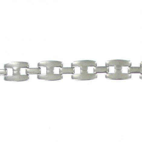 Bracelet maillons métal argenté homme