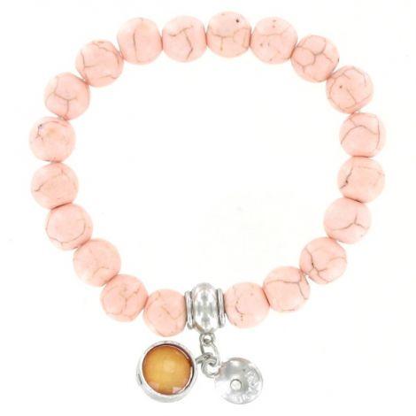 Bracelet élastique perles naturelles rose