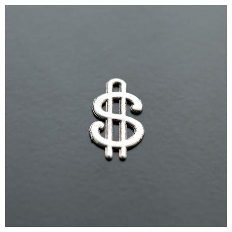 Breloque Dollar Argent vieilli