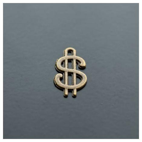 Breloque Dollar Bronze vieilli