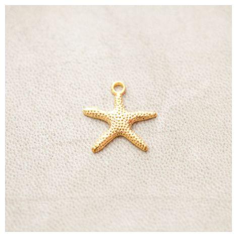 Breloque Étoile de mer 19mm Doré