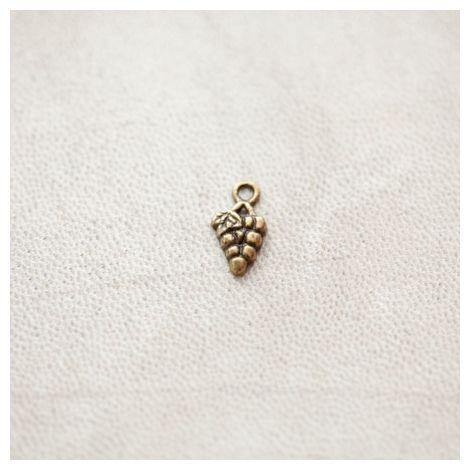 Breloque Grappe de raisins 13mm Bronze Vieilli