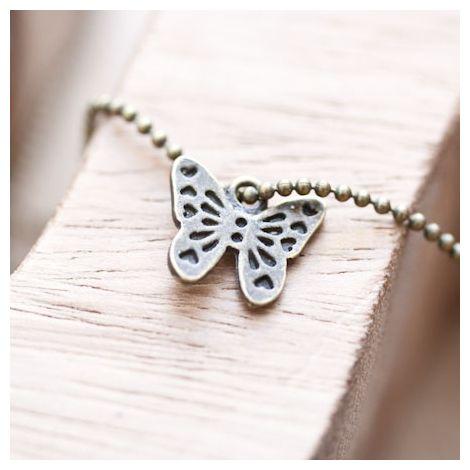Breloque Joli petit papillon Bronze vieilli