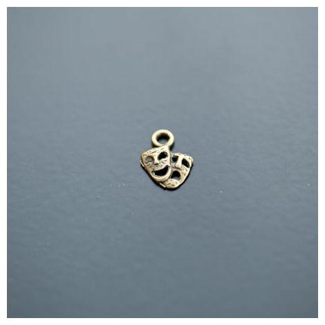Breloque Mini Double Masques Venise Bronze vieilli