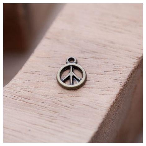 Breloque Mini Peace Bronze vieilli
