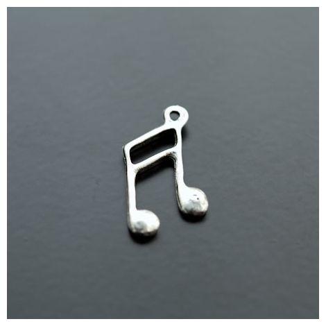 Breloque Note de musique Argent vieilli