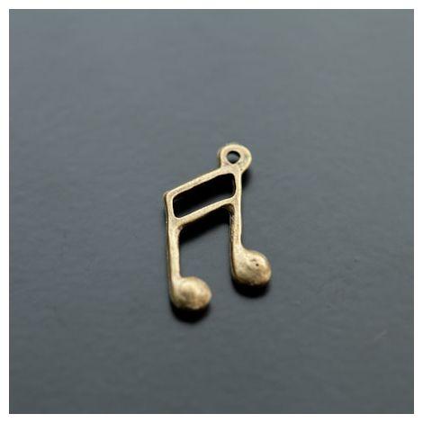 Breloque Note de musique Bronze vieilli