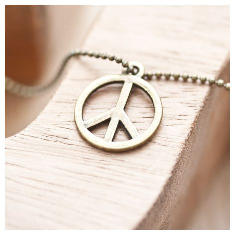 Breloque Peace and Love Bronze vieilli