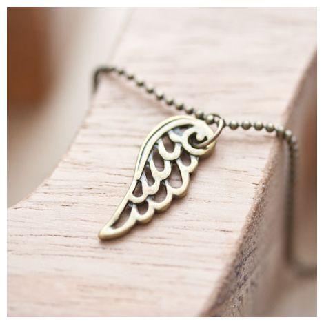 Breloque Petit aile d'ange Bronze vieilli