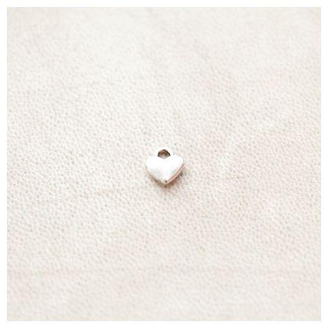 Breloque Petit Coeur 8mm Argent vieilli