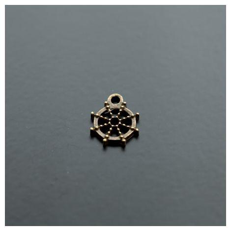 Breloque Petit Gouvernail Bronze vieilli