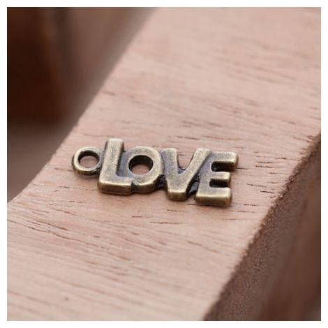 Breloque Petit Love épais Bronze vieilli