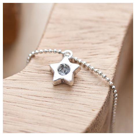 Breloque Petite étoile trou Argent vieilli