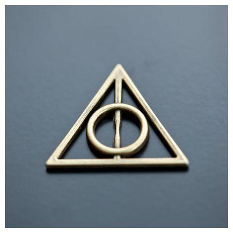 Breloque Symbole Harry Potter Bronze vieilli