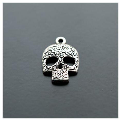 Breloque Tête de mort - Skull Motifs Argent vieilli