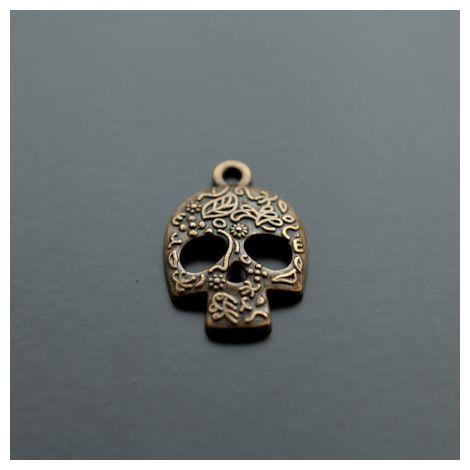 Breloque Tête de mort - Skull Motifs Bronze vieilli