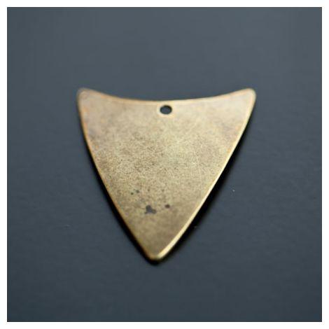 Breloque Triangle Bouclier Bronze vieilli