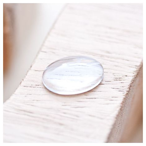 Cabochon en verre 18x13mm Ovale Transparent