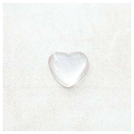 Cabochon en Verre Coeur 18mm Transparent