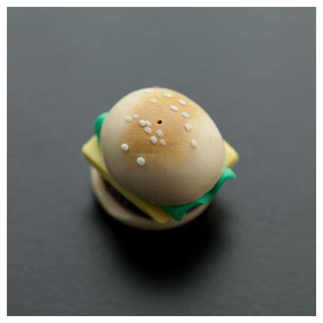 Cabochon Pendentif Polymère 20mm Hamburger