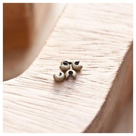 Cache perle à écraser 3mm Bronze vieilli