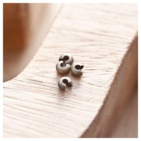 Cache perle à écraser 4mm Bronze vieilli