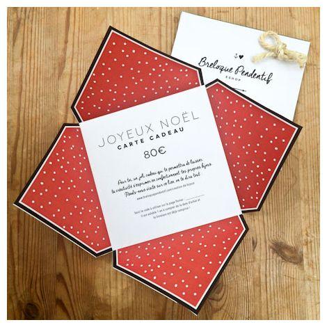Carte Cadeau 80€ Couleur Noël