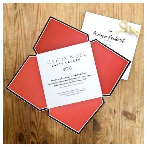 Carte Cadeau 40€ Couleur Noël