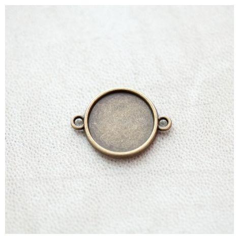 Connecteur à Cabochons Rond 16mm Bronze vieilli