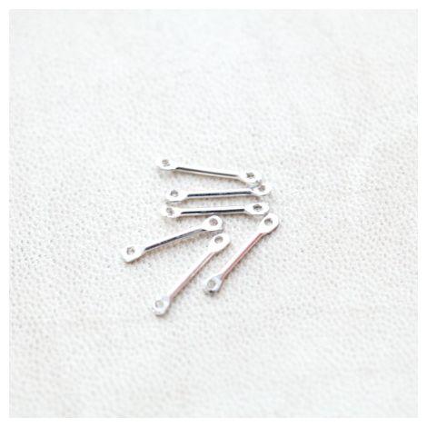 Connecteur Barre 15mm Argenté gris