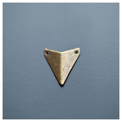 Connecteur Breloque Triangle Pointe 18x16mm Bronze vieilli