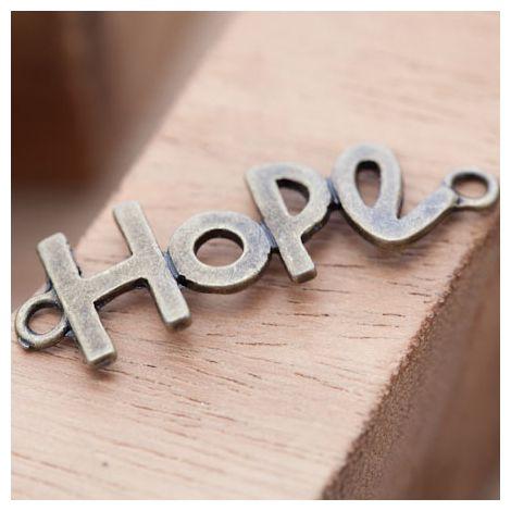 Connecteur Espoir Hope Bronze vieilli