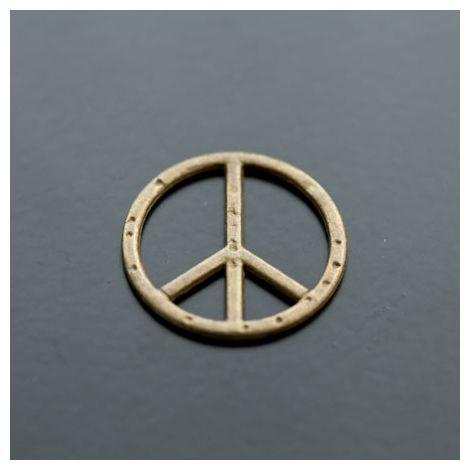 Connecteur Peace Bronze vieilli
