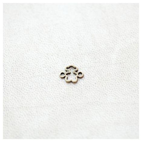 Connecteur Peluche Ours 8x10mm Bronze vieilli