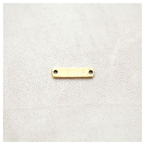Connecteur Rectangle 17.5x4mm Doré vieilli