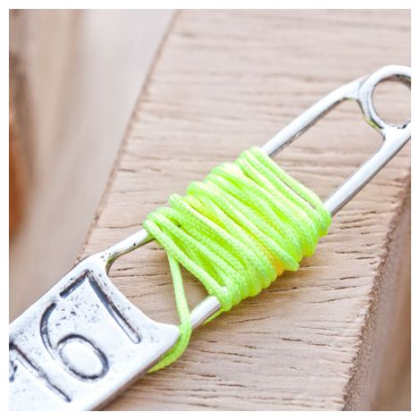 Cordon en nylon 0.8mm Jaune Fluo