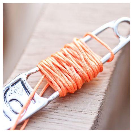 Cordon en nylon 0.8mm Orange