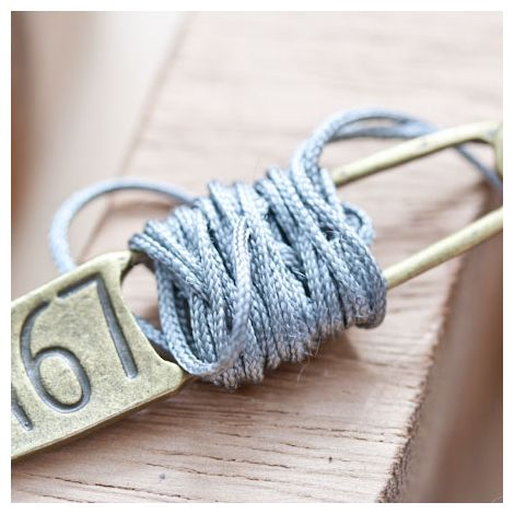 Cordon en nylon 1mm Gris