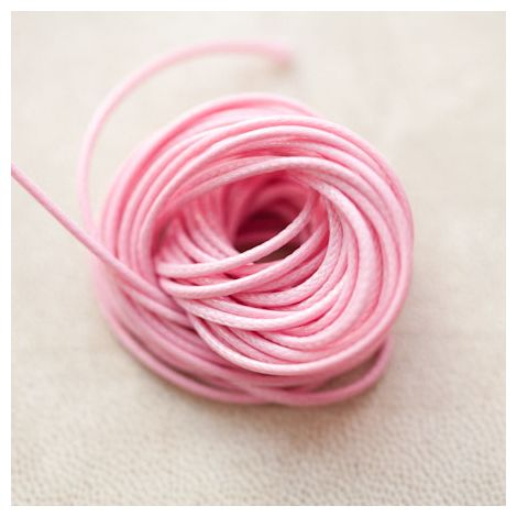 Cordon en Polyester 1mm Coréen Rose