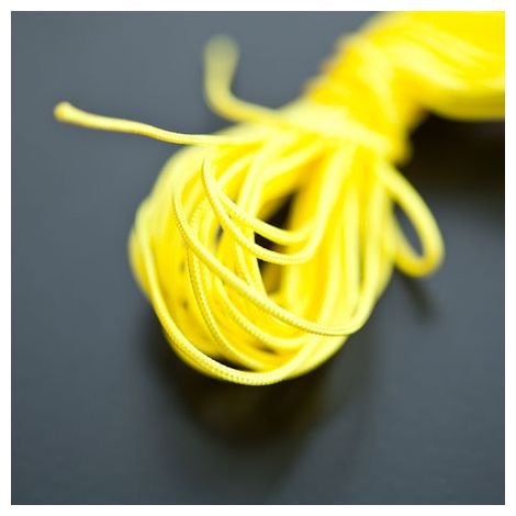Cordon Nylon 1mm Jaune x 6m