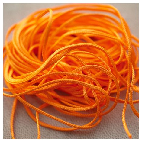 Cordon Nylon 1mm Orange Pétant