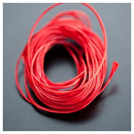 Cordon Polyester 0.5mm Rouge Brique