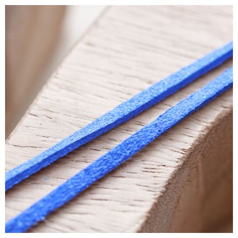 Cordon Suédine 3mm Lanière Bleu